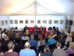 Reading at the Cheltenham Literature Festival, 2013, with Tyler Keevil and Martin Randall
